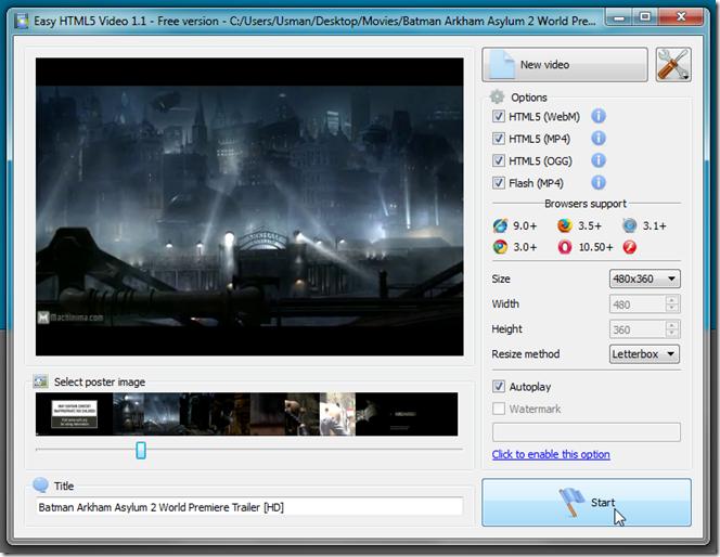Convert Videos Into HTML5